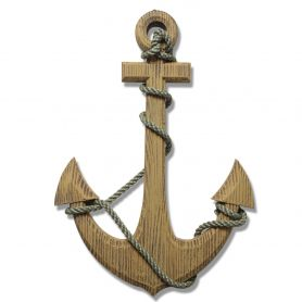 Ornamental Nautical Ship Anchor Wall Decoration, Wood, 24""