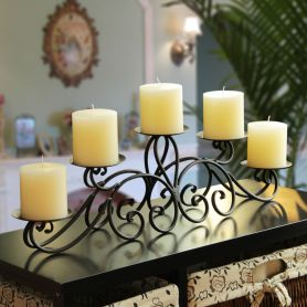 Adeco Iron Table Desk Top Candle Holder - Adeco - HD0004
